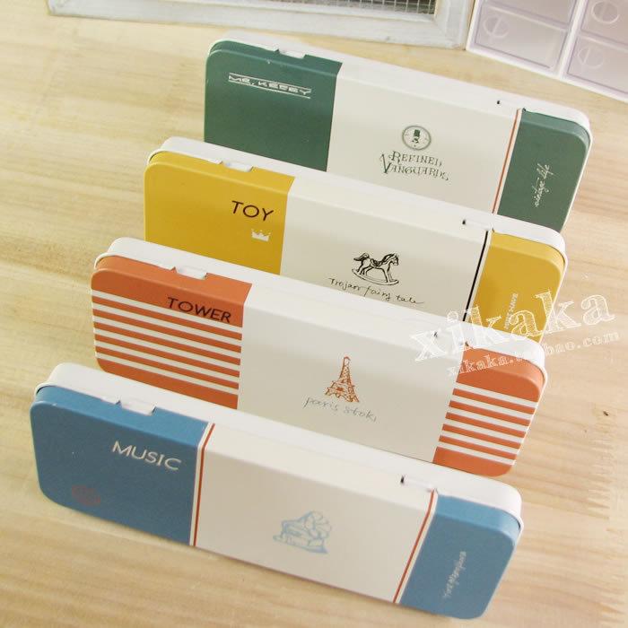 Korea stationery holiday tin multifunctional stationery box pencil storage box am-mhth-01
