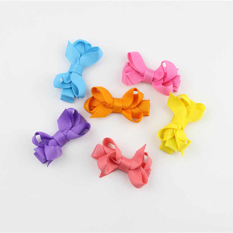 3d0cfd4d9d1d 1 pc Girls Hair Bows Hairpins Grosgrain Ribbon hair clips kids hair  accessories 1801ZYAA1724