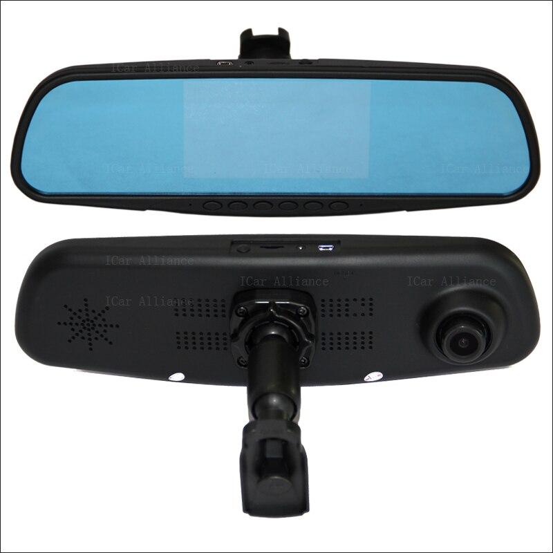 BigBigRoad For honda city Dual Lens Car Mirror Camera DVR Blue Screen Video Recorder Dash Cam with Original Bracket dash cam garmin dash cam 65w