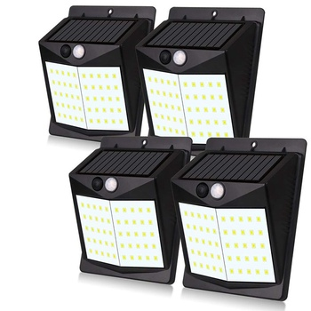 4 Pack 50LED Solar Light Outdoor Garden Human Sensor Automatic Lighting Waterproof Double Sided Tape Luz Solar Led Para Exterior