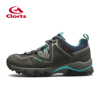 2016 Clorts Women Outdoor Shoes HKL 826E F Nubuck Hiking Shoes Breathable Suede Trekking Shoes Athletic