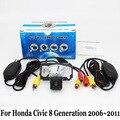 Камера заднего вида Для Honda Civic 8 Поколение 2006 ~ 2011/RCA AUX проводной Или Беспроводной/HD Широкоугольный Объектив CCD Ночного Видения камера