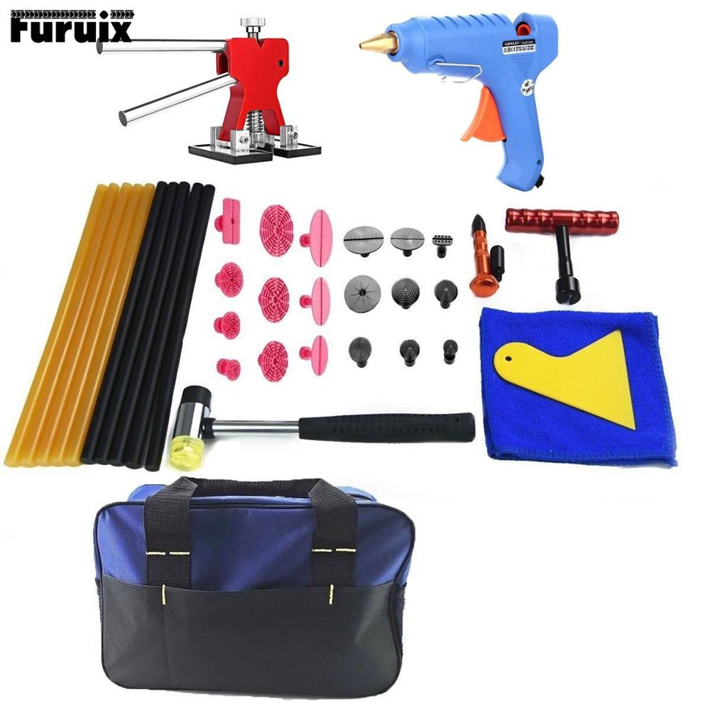 PDR Kit Glue Dent Puller Auto Body Dent Removal Tools Paintless Dent Repair Kit Hail Repair Tool Kits Pdr Starter Kit auto pdr paintless hail rods kit flat end dent puller repair tools 5pcs rod f005wd