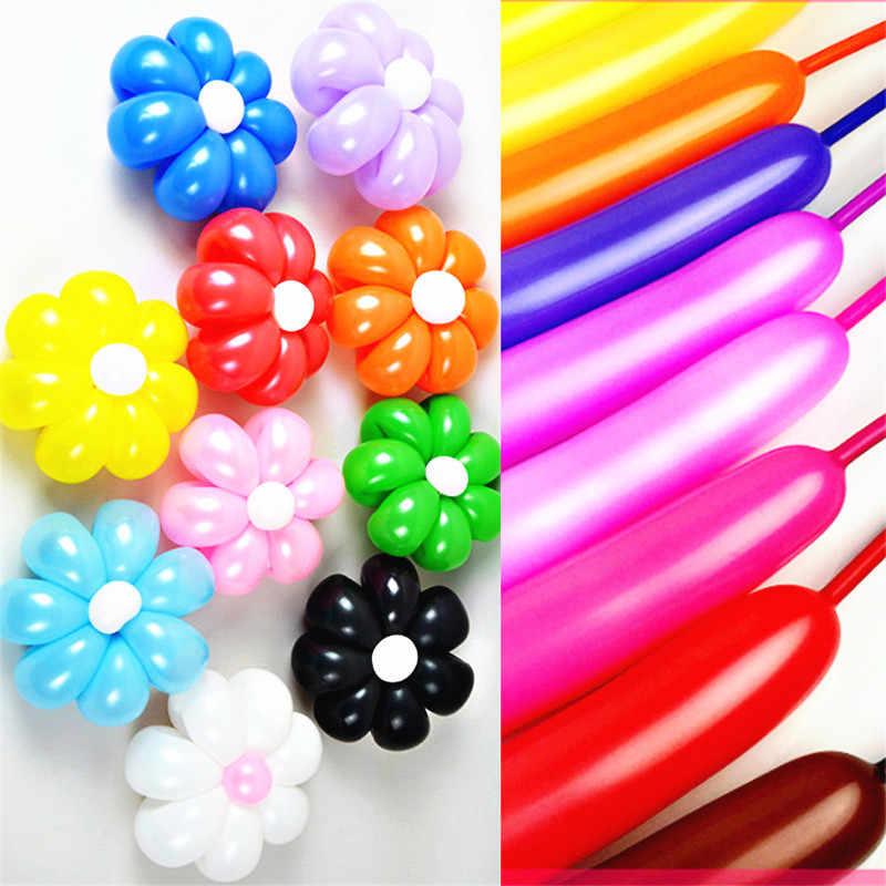 5 pçs 260q longo balão de látex mágico branco preto float bolas de ar inflável festa de aniversário do casamento bolas decoração brinquedos de ar