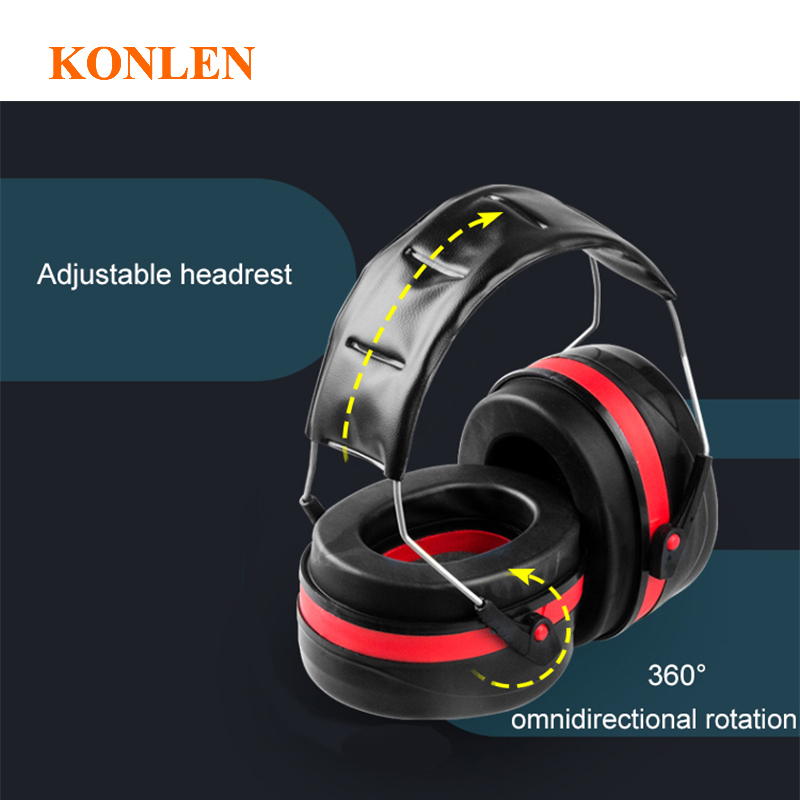 Image 4 - Ear protection anti noise hearing earmuffs protector noise cancelling reduction muffs earplugs tactical defender headphones-in Ear Protector from Security & Protection