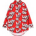 NEW womens maxi chiffon shirt women plus size shirts for woman oversized long blusas summer style ladies letter print red blouse