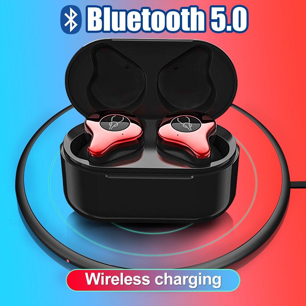 SNZIYAG Bluetooth Écouteurs V5.0 TWS Mini Sans Fil Écouteurs In-Ear Sport IPX5 Étanche avec Boîte De Charge Rechargeable Casque