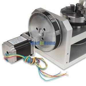 Image 4 - CNC נתב מכונת רוטרי שולחן 4th & 5th סיבובי ציר עם צ אק & 57 2 שלב 250 oz  ב מנוע צעד