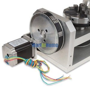 Image 4 - CNC Router Machine Rotary Table 4th & 5th Rotational Axis with Chuck & 57 2 Phase 250 oz in Stepper Motor