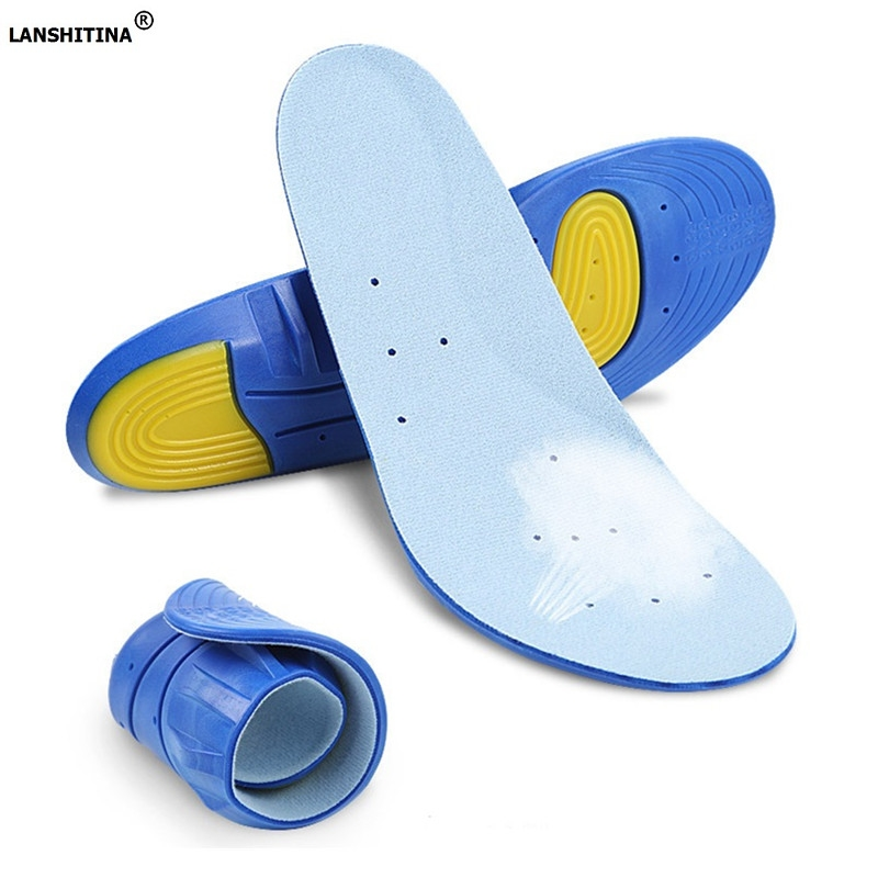 2017 Deodorant Shoe Insoles Shock Absorption Sports  Scholls Insoles Elastic Flat Foot Arch Support Breathable Orthopedic Insole