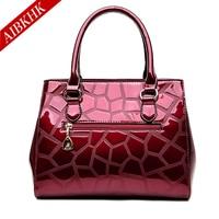 Patent Leather New Fashion High Quality Women Handbags Ladies Shoulder Bags Female Girl Stone European Famous Brand Luxury Bag