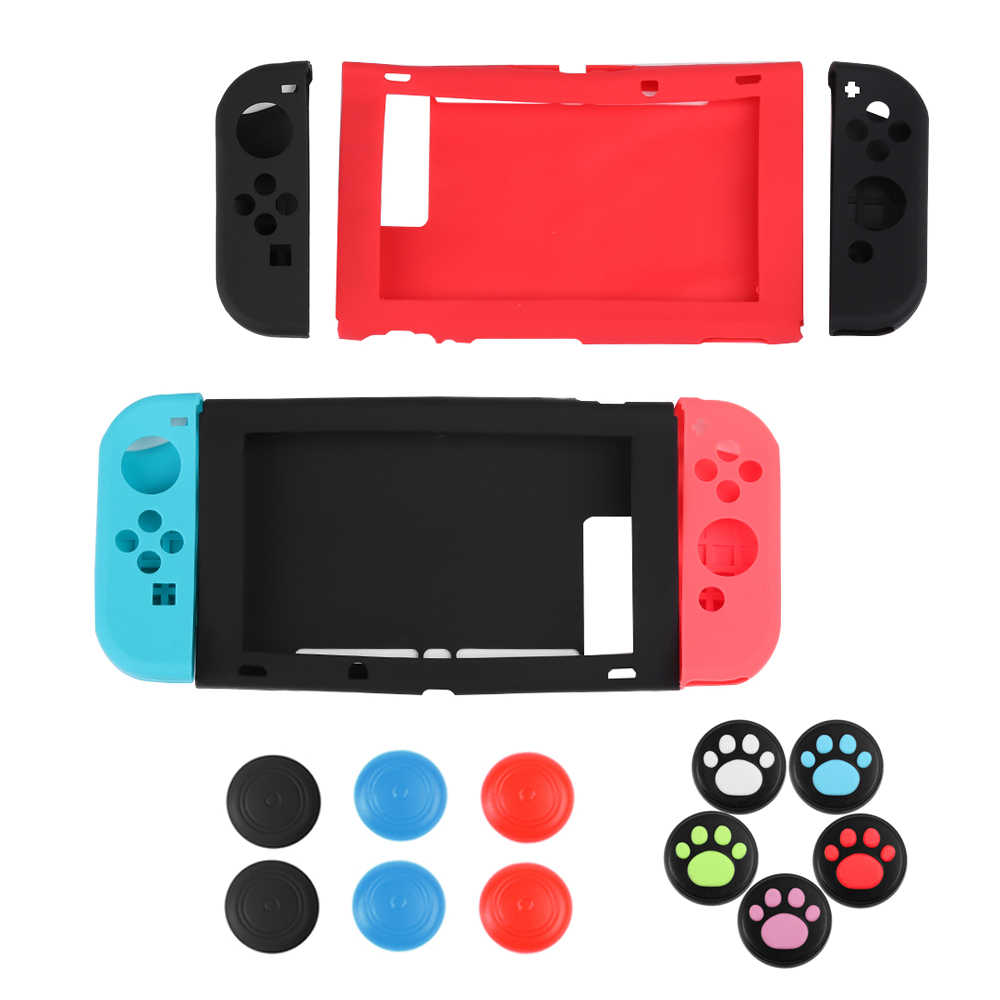 separation shoes 93fd3 5172f Anti-Slip Protective Skin Silicone Case Cover Joysticks Cap Sleeve Wrap for  Nintendo Switch Joy-Con Smart Accessories