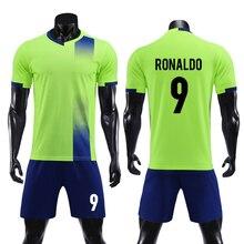 Детская одежда для футбола для взрослых, Джерси, Футбольная форма для мальчиков и девочек, футбольные комплекты, костюмы для соревнований, напечатанные на заказ цифры
