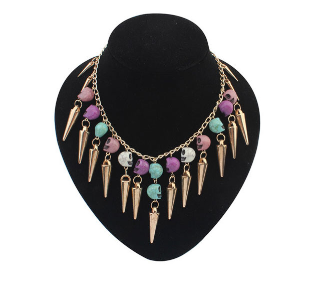 NIUYITID Official Store Women Skull Pendant Necklaces Punk Style Christmas Jewelry Womens Jewellery bijoux colier femme