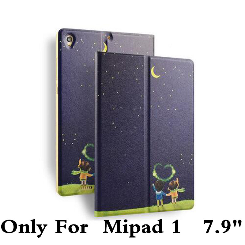 New Colored Drawing Leather Case Cover For Xiaomi 7.9 Mi Pad1 Tablet PC Flip Case For Xiaomi Mipad 1 A0101 Screen Film Pen Gift tablet pc protective case for xiaomi mi pad