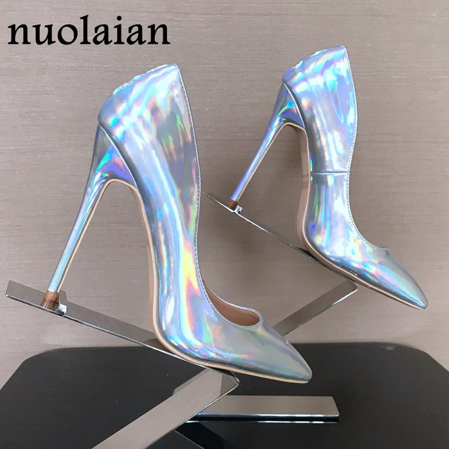 Women Patent Leather High Heel Shoes Lady Dress Pointed Toe High Heels Woman Platform Pumps Thin Heels Shoe Ladies Pump Boot