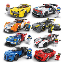 City Super Racers Model Building Blocks Bricks Figures Racing Car цена