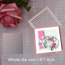 stripe Metal Steel Cutting Embossing Dies For Scrapbooking paper craft home decoration Craft 7.8*7.8 cm
