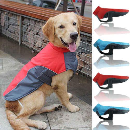 Large Dog Jacket Padded Waterproof Pet Clothes Warm Windbreaker Vest Coat Winter 2019 Hot Sale