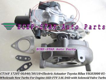 Turbo Электрический привод CT16V 17201-OL040 17201-30100 17201-30101 для TOYOTA HILUX SW4 Landcruiser D-4D 1KD-FTV 1KD 1 KDFTV 3.0L
