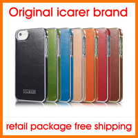 Hot Sale Free Shipping 7 Colors Original Icarer Brand Luxury Electroplate Series Genuine Leather Case Back