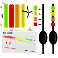 Bimoo 4PCS for 1mm Fishing Float Tip Signal Maganify Bright Color Triangle Tube 1mm Inner Diameter