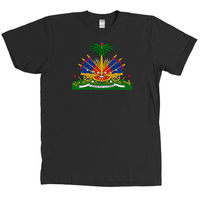 Haiti Coat of Arms T Shirt Haitian Caribbean Tee NEW WITH TAGS MANY COLORS2019 fashionable Brand 100%cotton Printed Round Neck