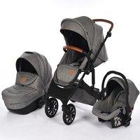 Winter stroller 2 in 1 high landscape stroller, stroller 3 in 1 Mom's helper