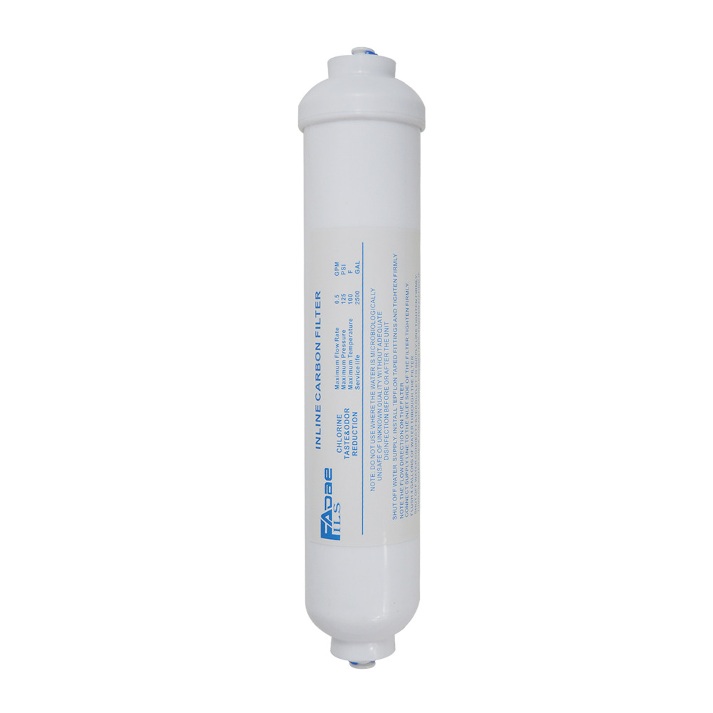 """Inline Coconut Shell Activated Carbon filter 1//4/"""" QC for RO systems"""