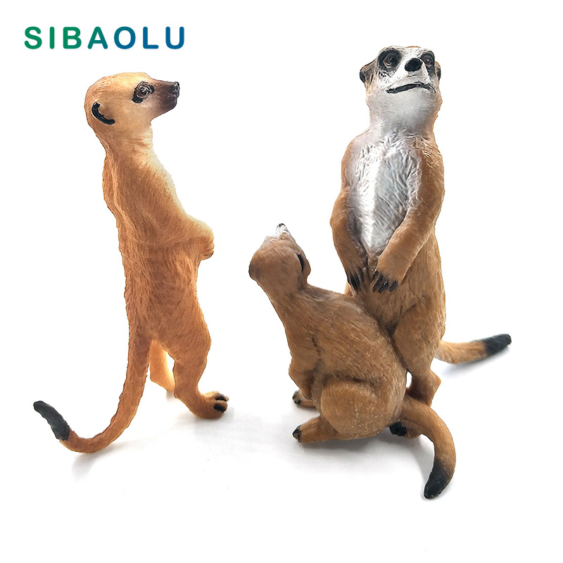 Simulation Small Meerkat Figurine Animal Model Bonsai Home Decor Miniature Fairy Garden Decoration Accessories Modern Statue Toy
