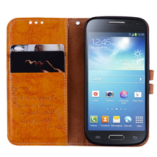 for Samsung S4 Case Flip Leather Cover for Samsung S4 mini Case TPU Cover Wallet Phone Case for S4mini kuchi stylish flip open protective leather case for samsung s4 mini black