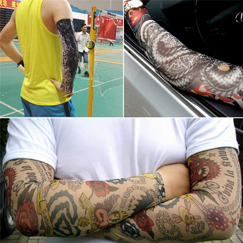 Only One Piece Temporary Fake Slip On Tattoo Arm Sleeves Kit New Fashion  Arm Sleeves To Cover Tattoos Men@50