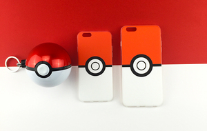 Pokemons PokeBall cute Cartoon Phone Case For iPhone 5C SE 5 5S 6 6S 6 Plus 7 7Plus Lovely Poke Ball Plastic phone Cover case