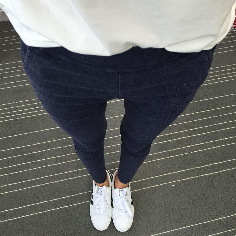 2017 New Women Slanting Pocket Washed Jeans Leggings Pencil Pants Elastic Denim Leggings Skinny Jeans Jeggings Women Trousers
