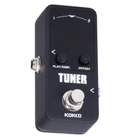 KOKKO Mini Pedal Tuner Guitarra Guitar Tuner Effect Device Dual Display Guitar Parts Accessories