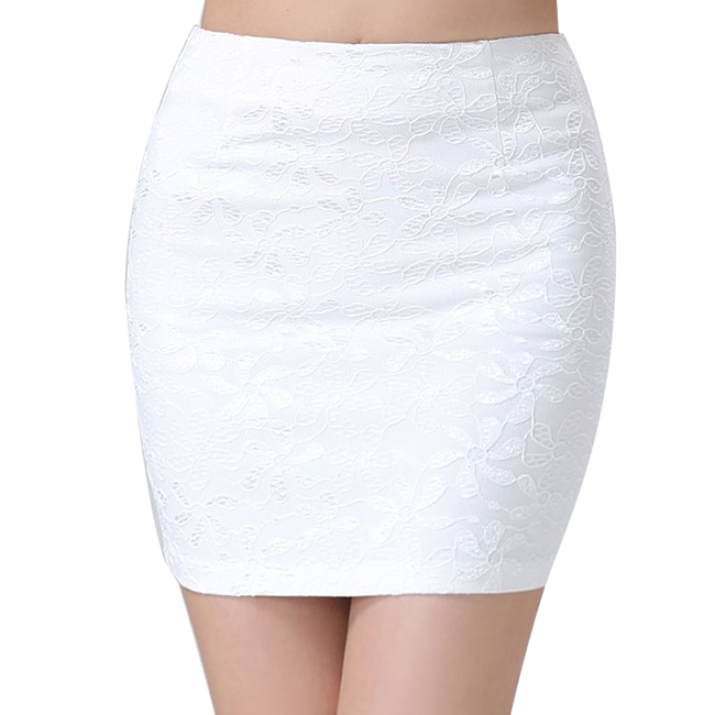 1 Pc Summer Mini Lace Black White Pencil Skirt Sexy Women Stretch ...