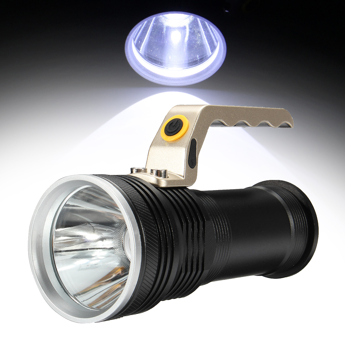Rechargeable Powerful LED Flashlight Torch Light Lamp Lantern Portable Fishing Light 18650 Battery Camping Torch 16t6 super powerful flashlight torch lamp led flash light 38000lm waterproof hunting lamp lights with rechargeable 18650 battery