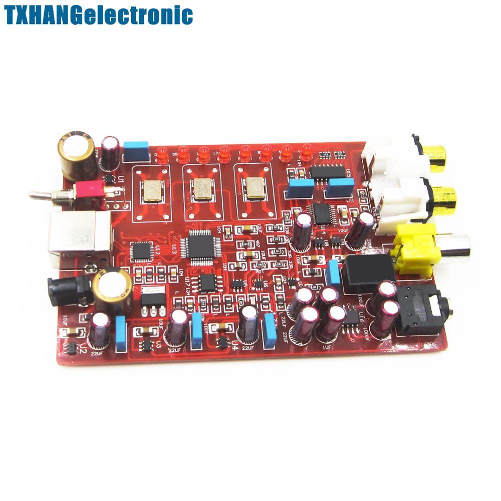 XMOS+ PCM5102 + TDA1308 USB decoder board USB DAC 384KHZ/32bit New