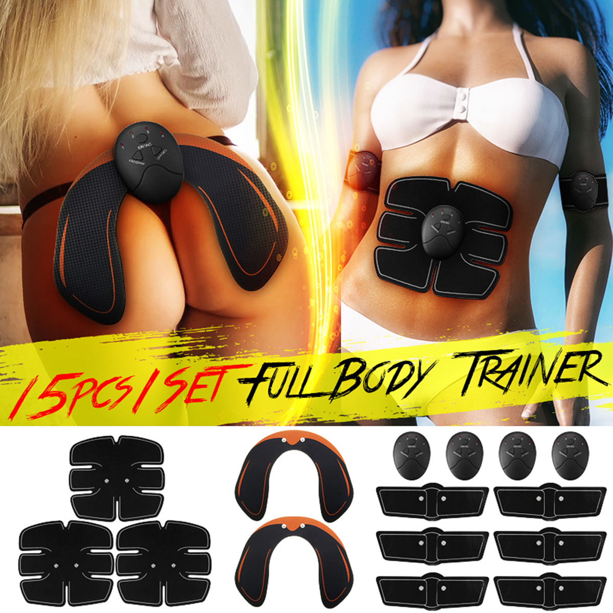 Image 2 - 15PCS/Set EMS Muscle Abdominal Trainer Smart Wireless Muscle ABS Hip Abdominal Muscle Stimulator Massage Set Weight Loss-in Massage & Relaxation from Beauty & Health