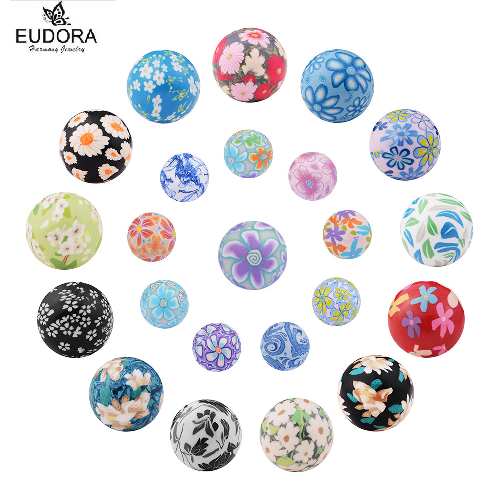 5PCS Angel Caller Baby Chime Ball Candy Color Printing Mexican Bola Eudora Harmony Ball Belly Bola Jewelry Mum To Be Gift