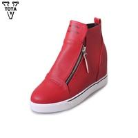 VTOTA Fashion Platform Women S Boots Autumn Winter Round Toe Women S Shoes Bota Feminina Shoes