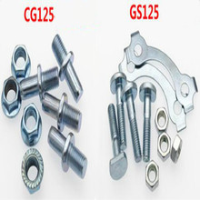 motorcycle CG 125cc GS 125 screw sprocket nut Chain plate nuts free shipping