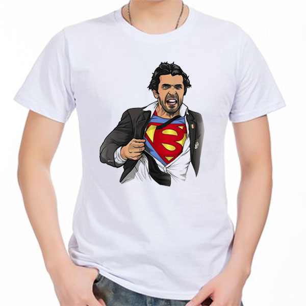 new product 5aa6b ff47e US $13.99 |Men's Short sleeve t shirt Gianluigi Buffon Juventus Italiana  Torino Turin Serie A Italia 100% cotton tshirt jersey fan-in T-Shirts from  ...