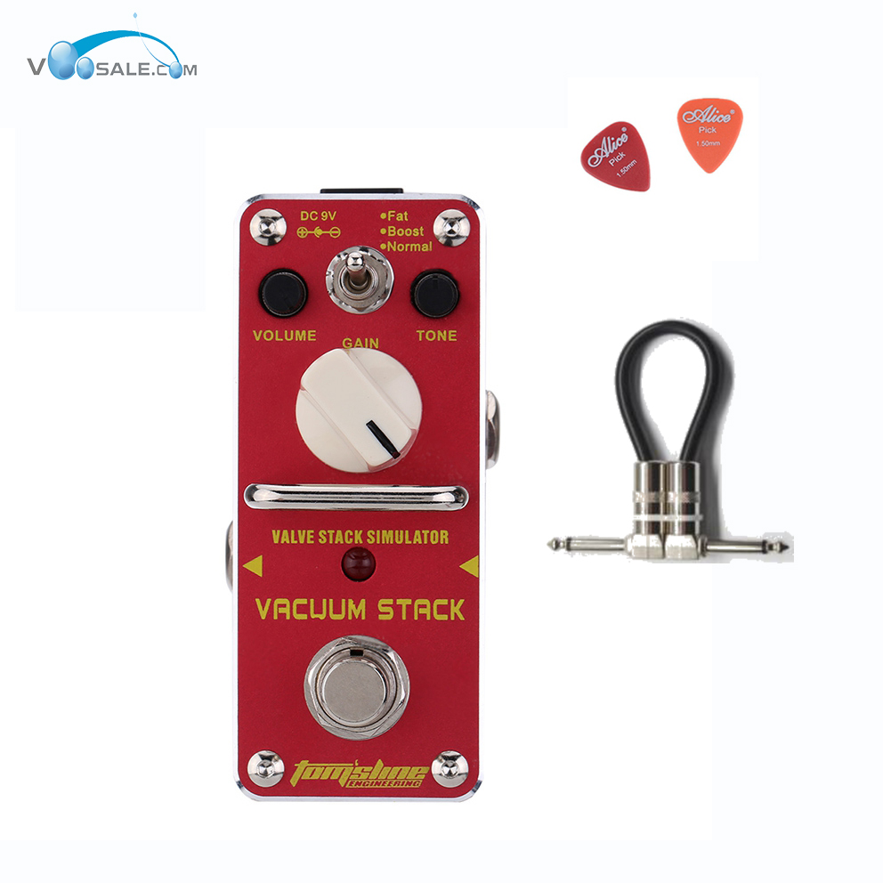 AVS-3 VVacuum Stack Simulator Guitarra Guitar Effect Pedal Aroma Mini Pedals Effect True Bypass Guitar Accessories +Free Cable amo 3 mario bit crusher electric guitar effect pedal aroma mini digital pedals full metal shell with true bypass