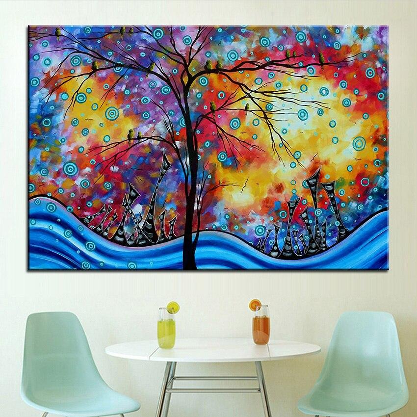 Grande taille Impression Peinture À L huile énorme paysage urbain ... 8a50e6db571