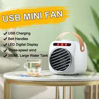 USB Mini Portable Air Conditioner Fan Desktop Humidification Low Noise Air Cooler Fan Conditioner 350ml Water Tank