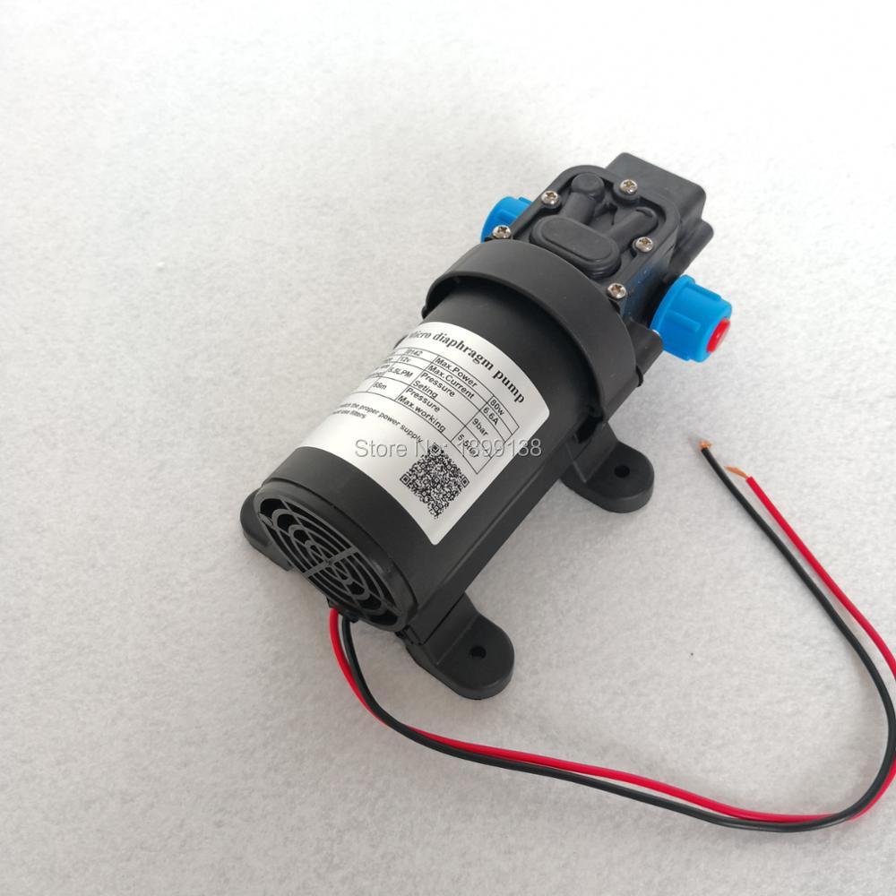 Electric Self Priming 12 Volt Dc High Pressure Mini Water Pump Return Valve Type 80W 5.5L/min With Built-in Fun