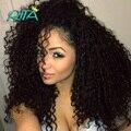 50g Não Transformados Kinky Curly Virgem Cabelo Cor Natural Da Malásia Virgem Kinky Curly Weave Extensões de Cabelo Humano de Qualidade Superior Tecer