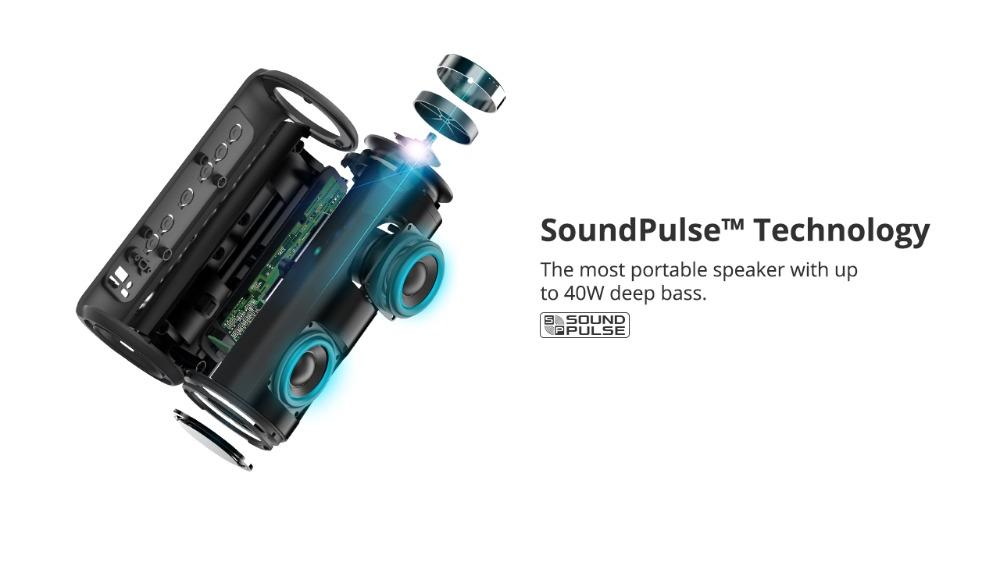 Tronsmart T6 Plus Altavoz Bluetooth portátil 40W 12