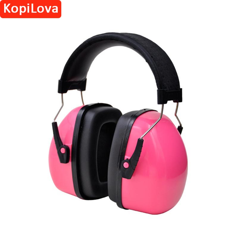 KopiLova 1pcs Pink Noise Reducing Ear Muffs Personalized Hearing Protective Soundproof Earmuff for Shooting Hunting Sleeping new professional soundproof foldaway durable protective ear plugs for noise ear muffs hearing ear protection